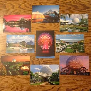 Vintage '80s Disney World Epcot Postcard Bundle 3